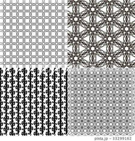 Set of  geometric pattern in op art design. Vectorのイラスト素材 [33299162] - PIXTA