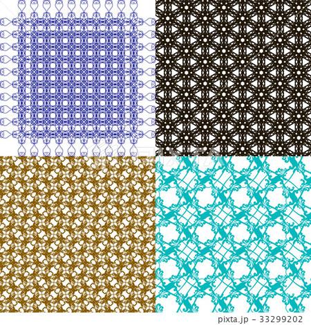 Set of  geometric pattern in op art design. Vectorのイラスト素材 [33299202] - PIXTA