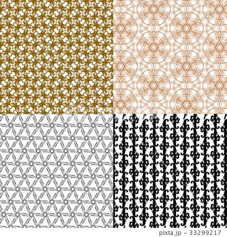 Set of  geometric pattern in op art design. Vectorのイラスト素材 [33299217] - PIXTA