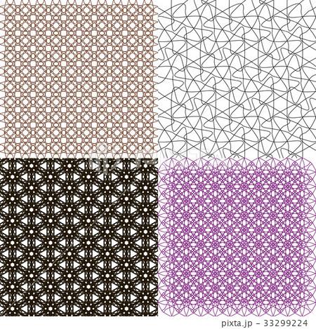 Set of  geometric pattern in op art design. Vectorのイラスト素材 [33299224] - PIXTA