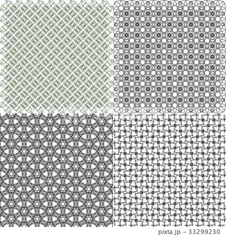 Set of  geometric pattern in op art design. Vectorのイラスト素材 [33299230] - PIXTA