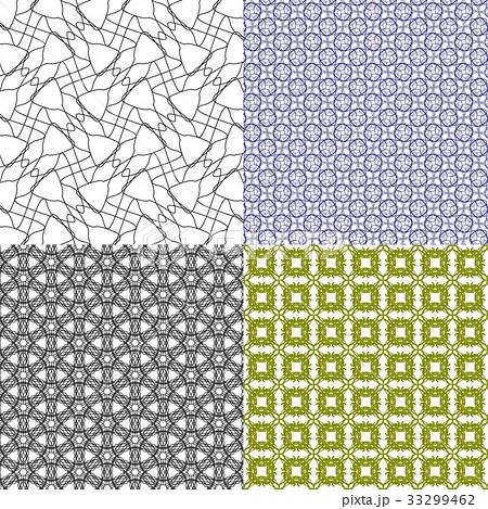 Set of  pattern. Modern stylish texture. Repeatingのイラスト素材 [33299462] - PIXTA
