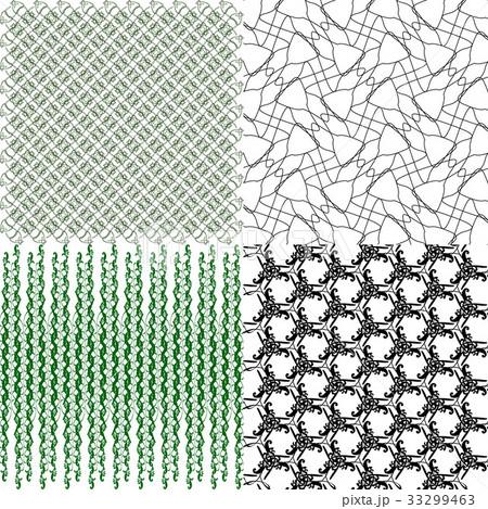 Set of  pattern. Modern stylish texture. Repeatingのイラスト素材 [33299463] - PIXTA