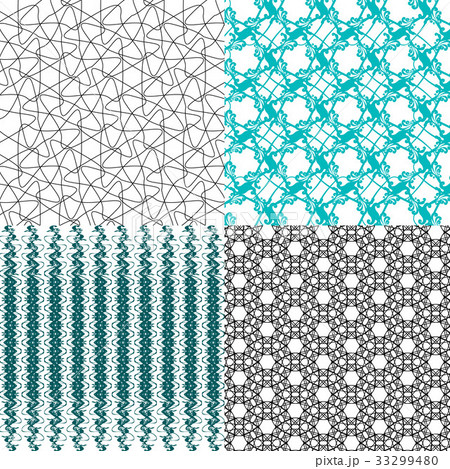 Set of  pattern. Modern stylish texture. Repeatingのイラスト素材 [33299480] - PIXTA