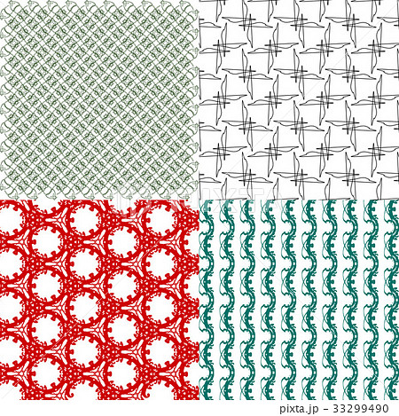 Set of  pattern. Modern stylish texture. Repeatingのイラスト素材 [33299490] - PIXTA