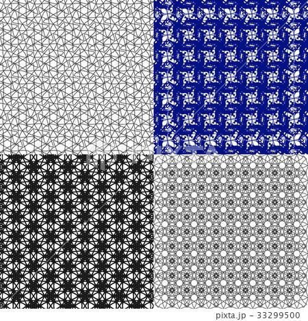 Set of  pattern. Modern stylish texture. Repeatingのイラスト素材 [33299500] - PIXTA