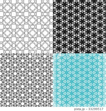 Set of  pattern. Modern stylish texture. Repeatingのイラスト素材 [33299517] - PIXTA