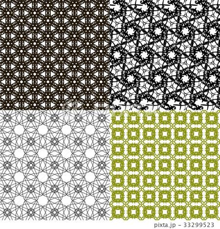 Set of  pattern. Modern stylish texture. Repeatingのイラスト素材 [33299523] - PIXTA