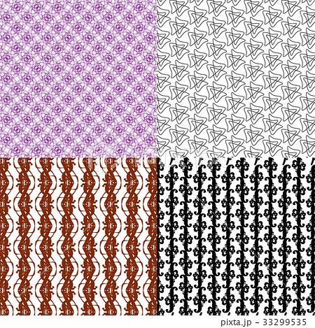 Set of  pattern. Modern stylish texture. Repeatingのイラスト素材 [33299535] - PIXTA