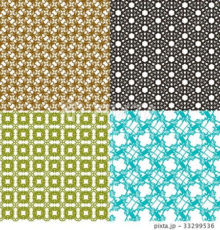 Set of  pattern. Modern stylish texture. Repeatingのイラスト素材 [33299536] - PIXTA
