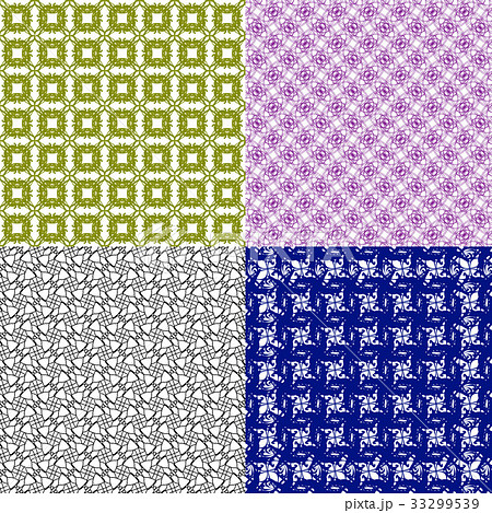 Set of  pattern. Modern stylish texture. Repeatingのイラスト素材 [33299539] - PIXTA