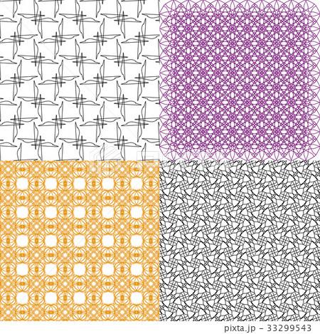 Set of  pattern. Modern stylish texture. Repeatingのイラスト素材 [33299543] - PIXTA