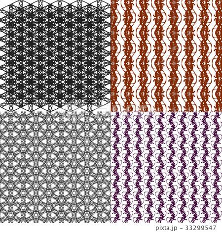 Set of  pattern. Modern stylish texture. Repeatingのイラスト素材 [33299547] - PIXTA