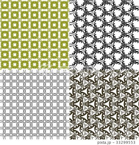Set of  pattern. Modern stylish texture. Repeatingのイラスト素材 [33299553] - PIXTA