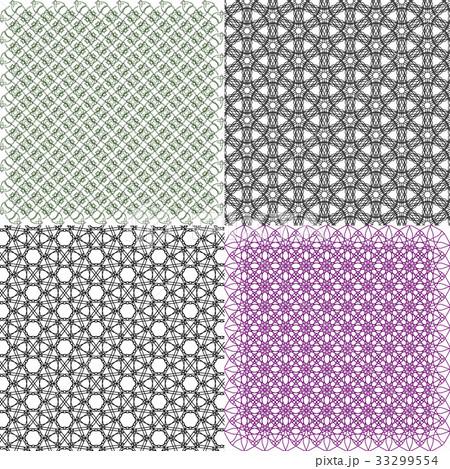 Set of  pattern. Modern stylish texture. Repeatingのイラスト素材 [33299554] - PIXTA