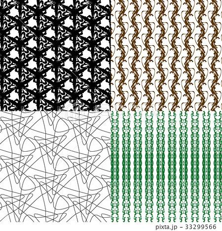 Set of  pattern. Modern stylish texture. Repeatingのイラスト素材 [33299566] - PIXTA