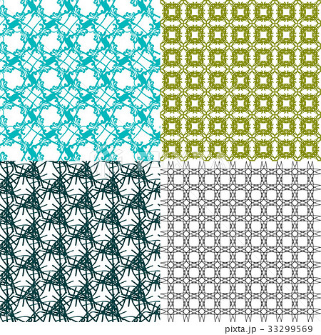 Set of  pattern. Modern stylish texture. Repeatingのイラスト素材 [33299569] - PIXTA