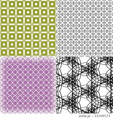 Set of  pattern. Modern stylish texture. Repeatingのイラスト素材 [33299574] - PIXTA