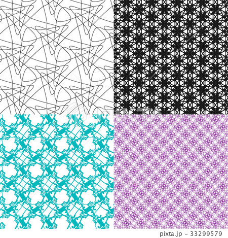 Set of  pattern. Modern stylish texture. Repeatingのイラスト素材 [33299579] - PIXTA
