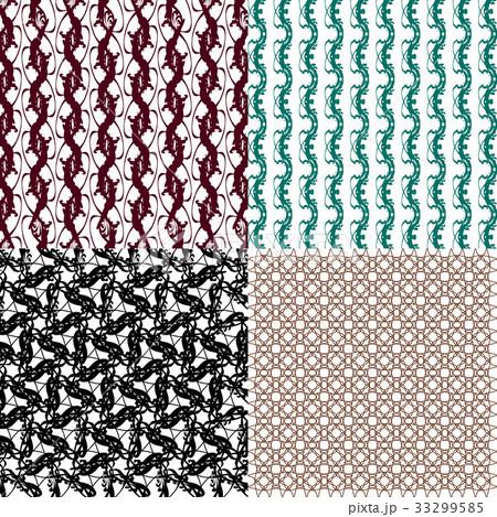 Set of  pattern. Modern stylish texture. Repeatingのイラスト素材 [33299585] - PIXTA