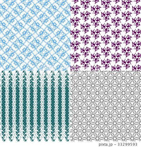 Set of  pattern. Modern stylish texture. Repeatingのイラスト素材 [33299593] - PIXTA