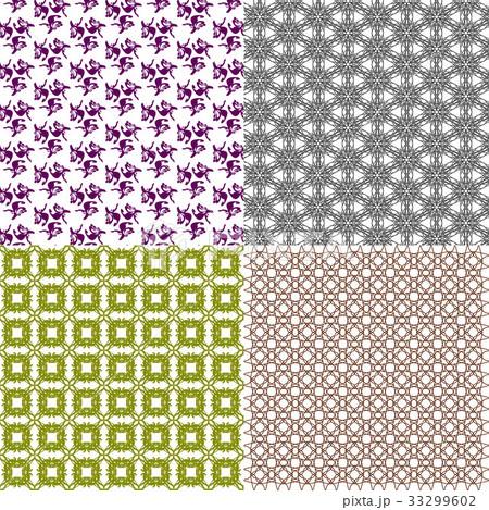 Set of  pattern. Modern stylish texture. Repeatingのイラスト素材 [33299602] - PIXTA