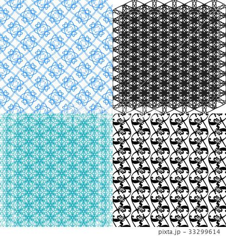 Set of  pattern. Modern stylish texture. Repeatingのイラスト素材 [33299614] - PIXTA