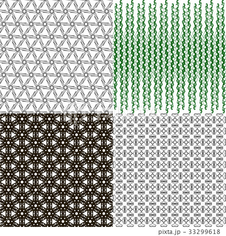 Set of  pattern. Modern stylish texture. Repeatingのイラスト素材 [33299618] - PIXTA