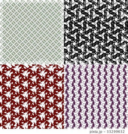Set of  pattern. Modern stylish texture. Repeatingのイラスト素材 [33299632] - PIXTA
