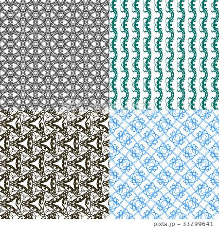 Set of  pattern. Modern stylish texture. Repeatingのイラスト素材 [33299641] - PIXTA