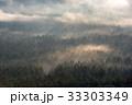 初秋の原生林と雲海4 33303349