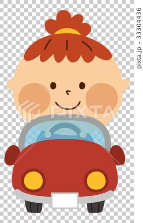 車に乗る子供 33304436
