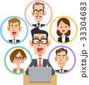 ビジネス ノートパソコン ソーシャルネットワーク 笑顔 眼鏡 33304683