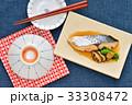 和食、煮魚の鰆(サワラ、さわら)。※国産のサワラです。 33308472