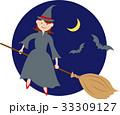 ハロウィン 人物 魔女のイラスト 33309127