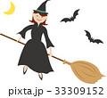 ハロウィン 人物 魔女のイラスト 33309152