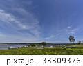 湖畔 青空 晴れの写真 33309376