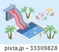 プール ベクトル すべりだいのイラスト 33309828