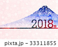 戌 戌年 富士山のイラスト 33311855