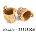Wooden bucket isolated on white background 33313020