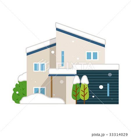 雪 積雪 冬 家 一軒家 33314029
