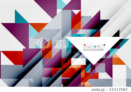 Triangle pattern design backgroundのイラスト素材 [33317065] - PIXTA