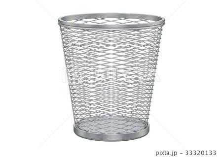 Empty metal garbage bin, 3D renderingのイラスト素材 [33320133] - PIXTA