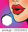 Open mouth and Message in pop art style 33322622