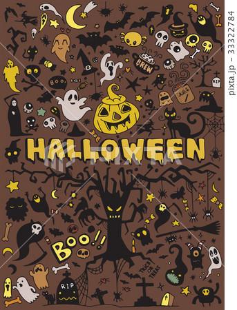 set of Halloween doodleのイラスト素材 [33322784] - PIXTA