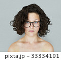 Young Adult Woman Topless Studio Portrait 33334191