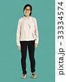 Young Asian Adult Woman Smile Face Studio Portrait 33334574