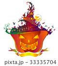 ハロウィン 魔女帽子 かぼちゃ 文字なし 33335704