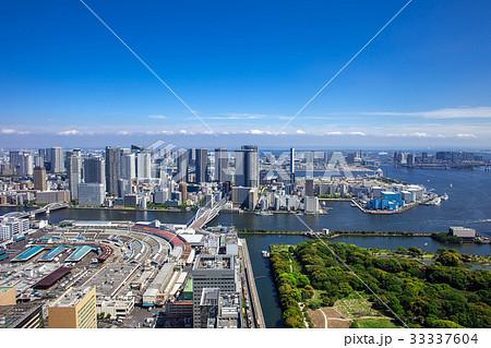 高層マンションと高層ビルと庭園 33337604
