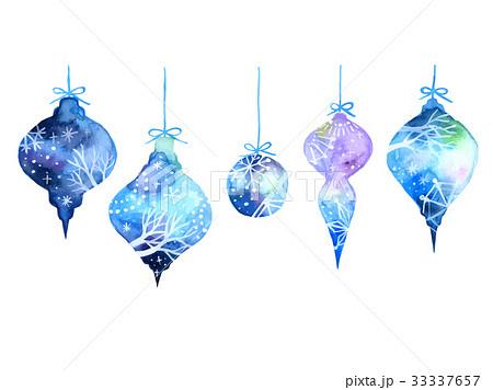 クリスマスオーナメントのイラスト素材 33337657 Pixta